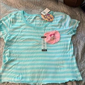 Polly Pocket Ruffle Tee NWT Large